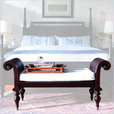 Stanley Furniture Barbados Mahogany Bed End Bench With