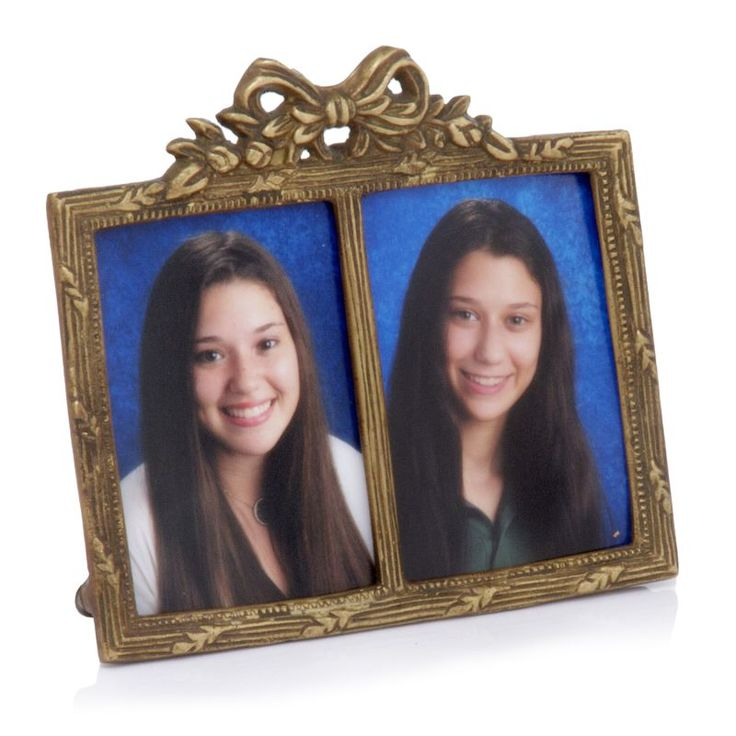 Modern Day Accents 3019 Arco Antique Brass Double Photo Frame Brass Home Decor Accents Picture Frames