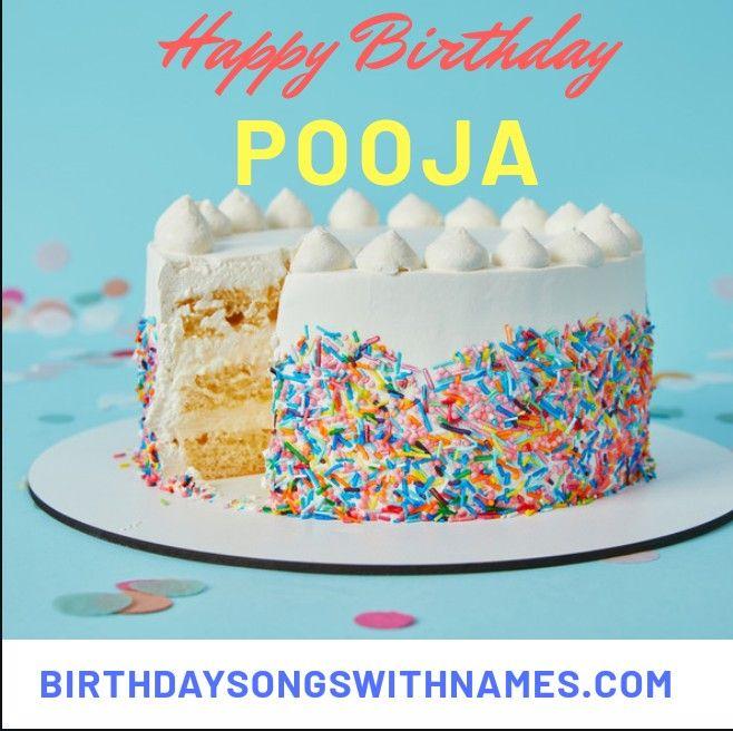 Happy Birthday Song For Pooja Happy Birthday Song Birthday Songs Happy Birthday Text Message