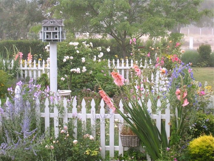 Someday, when I *really* learn more about all this gardening stuff, I'm going to have a garden I can actually stroll through. There's lots of little spots around my house. (This is Susan Branch's California garden.)