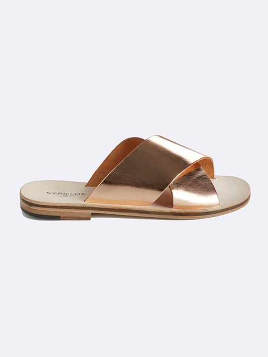 Sandales cuir femme maxi brides
