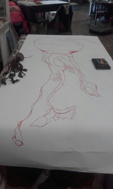 20 A1's of a beetroot. Started doing a giant 5 point drawing today.