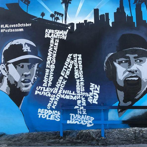 48 best los angeles dodgers images on pinterest dodgers for Dodger stadium wall mural