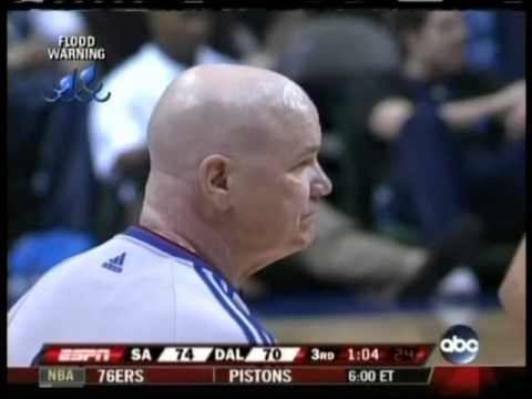 Tim Duncan ejected by Joey Crawford for laughing.  Could be a hi-jack, built up emotions.