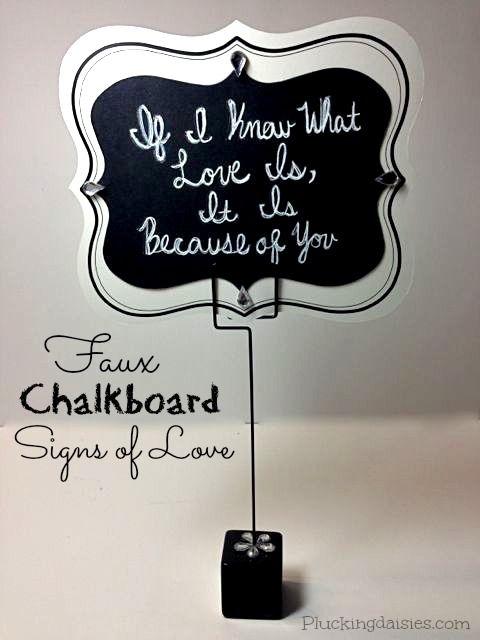 DIY Chalkboard Signs of Love | @PluckingDaisy #DavidTuteraDIY #Wedding