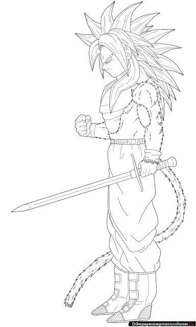 Dibujos de Dragon Ball GT para Imprimir y Colorear                                                                                                                                                     Más
