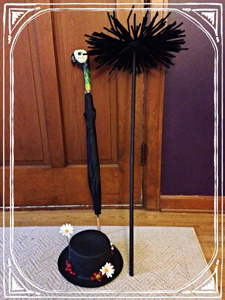 Mary Poppins DIY props I made for our Mary and Bert costumes.