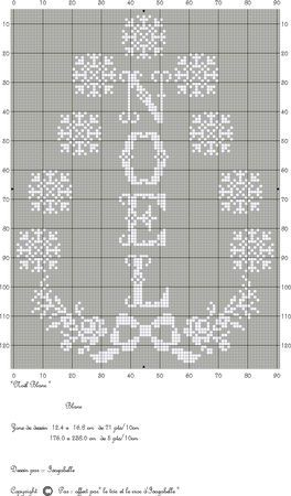 No_l_blanc Noel Christmas snowflake cross stitch