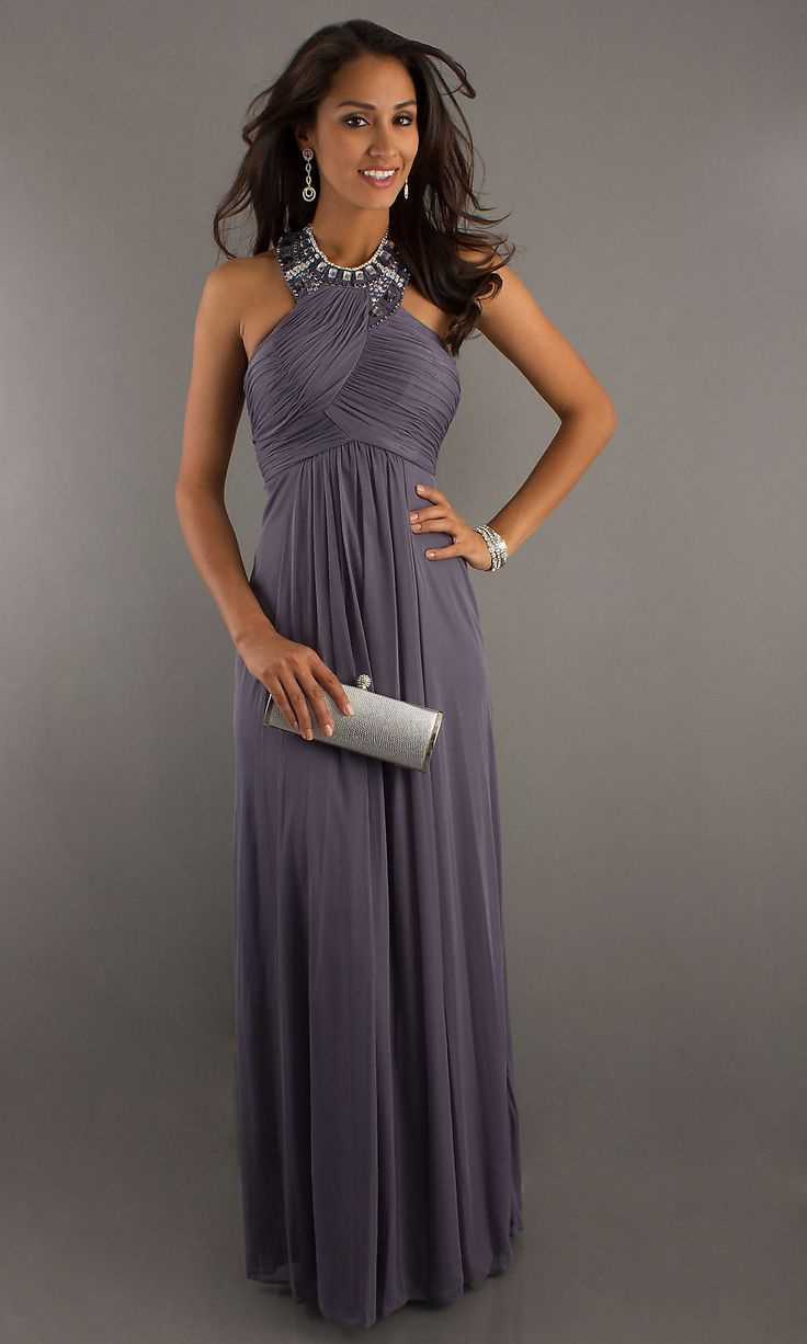 High Neck Floor Length Dress MO-11217: Evening Dresses, Dresses Details, Dresses Style, High Neck, Floors Length Dresses, Bridesmaid Dresses, Gowns, Chiffon Prom Dresses, Ball Dresses