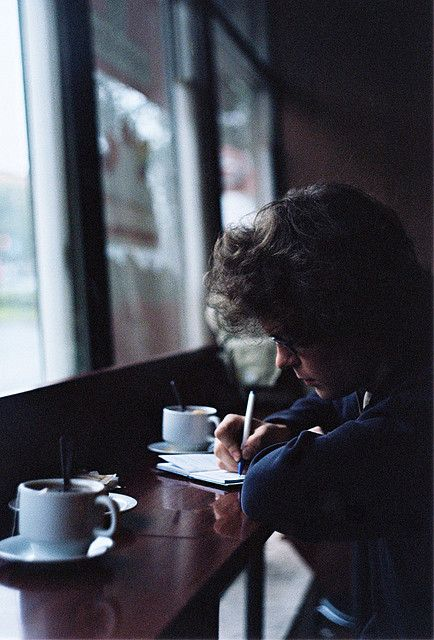 """He had stayed up all night trying to find the perfect words. There were 13 cups of coffee around him; all of which he had drunken. His mom gently shook him awake. His paper was still blank. """"Time for school."""" she said."""