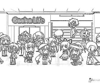 Relish Boys Watches Coloring Pages Gacha Life Free Prisma Page 6