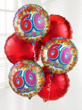 60th Birthday Balloon Bouquet
