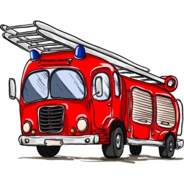 Brandweerwagen muursticker