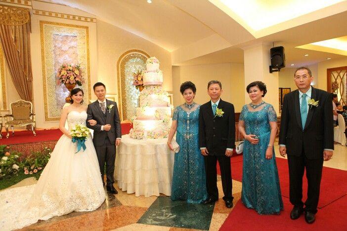 Us and wedding cake