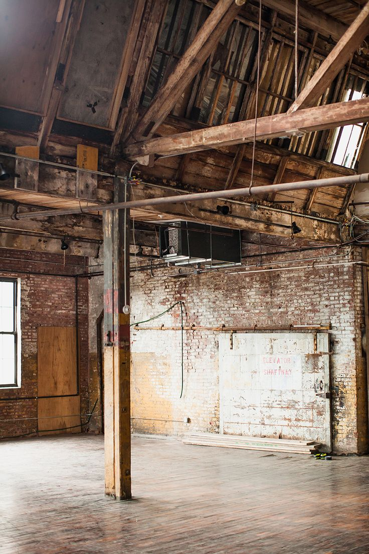 "Old warehouse in Brooklyn NY, would be great to be converted into the ultimate living space - think ""Flashdance"". Her studio is still my dream home"