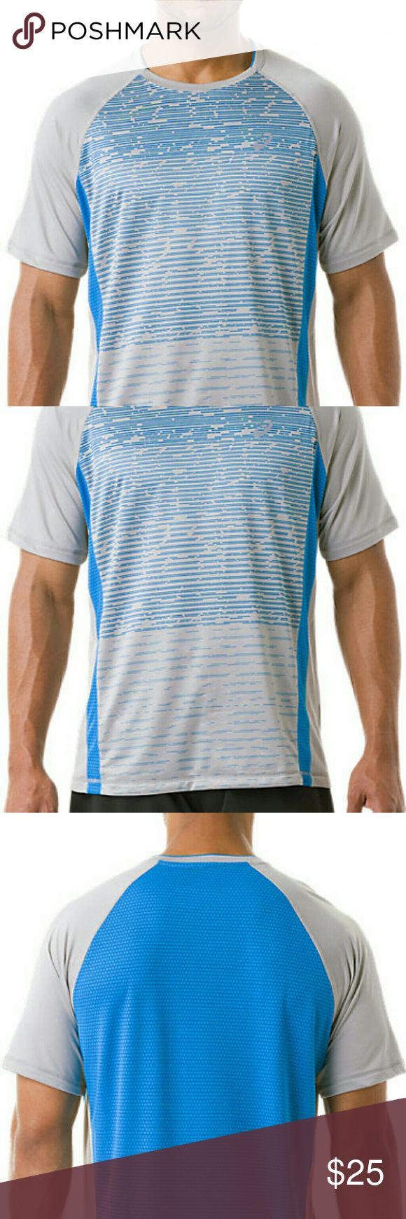 Asics Men's Shori Printed Tee This mens top is great for working out in as it will keep you dry and also looks great to wear as a casual top too! Asics Shirts Tees - Short Sleeve