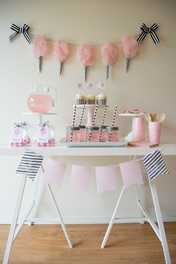 Adorable Sweet Cotton Candy Party Ideas