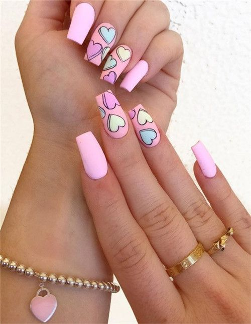 Awesom Cute Pink Acrylic Nails Designs Ideas For You In 2019