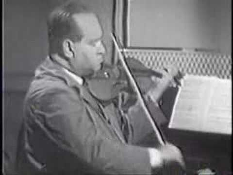 "David Oistrakh plays Ravel Tzigane // One thing about This VIOLINIST is he NEVER ""judges"" himself. if it's out of tune or scratchy he is always in the moment telling a story. Many violinists are critiqueing themselves into full time damage of Expression. Please think of this. thanks"