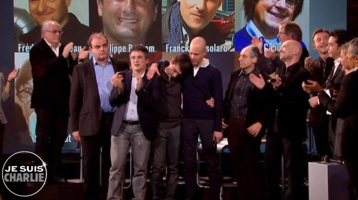"""Patrick Pelloux, Laurent Léger, Gérard Biard... L'équipede """"Charlie Hebdo"""" a pris le micro lors de la soirée hommage qui s'est déroulée hier en honneur du journal."""