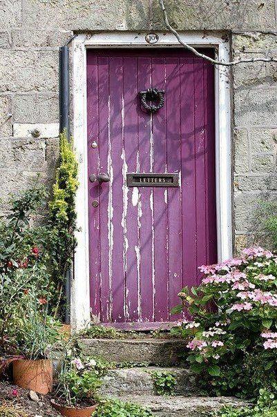 Фиолетовая дверь / Purple door