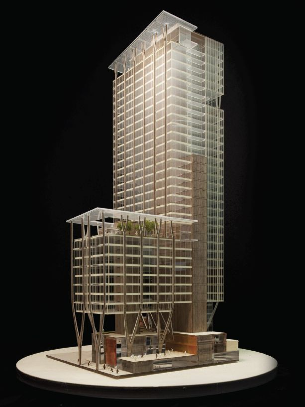 This is the preliminary design for Skanska's latest project, an office high-rise…