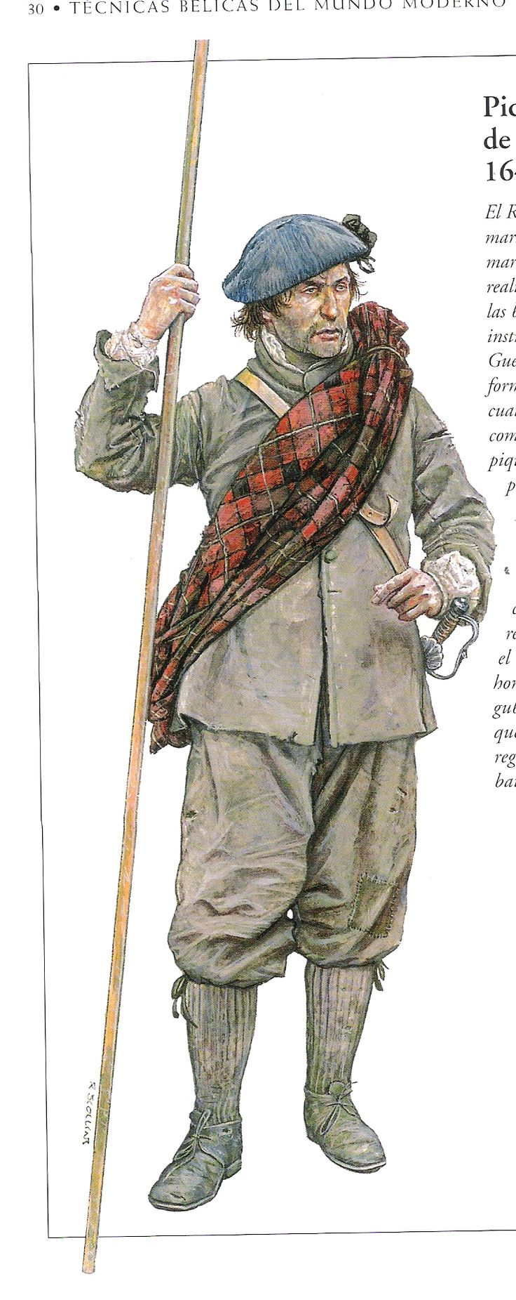 Scottish royalist pikeman of the English Civil War
