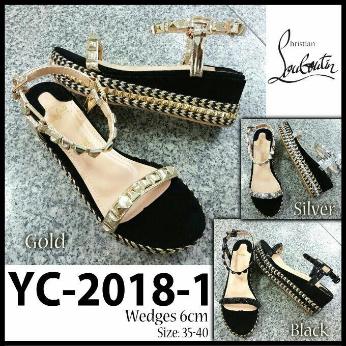 Sendal Wedges Christian Louboutin YC-2018-1 6cm 35-40 305rb