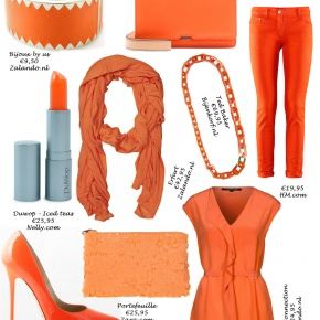 Orange supporter's outfit... Soccer is a sexy feast in Holland