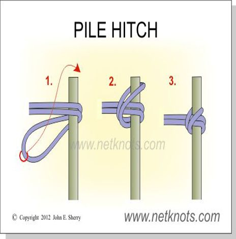 Pile Hitch - How to tie a Pile Hitch
