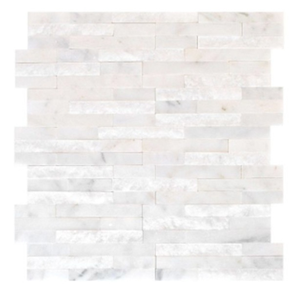 Enchanting white marble wall tile mosaic from Jeffrey Court #tile