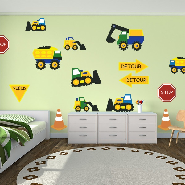 17 best images about digger themed bedroom on pinterest for Construction themed bedroom ideas