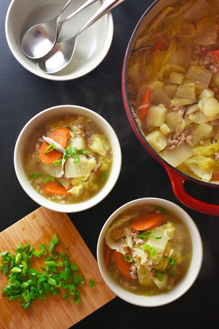 Pork and Napa Cabbage Soup by Michelle Tam http://nomnompaleo.com