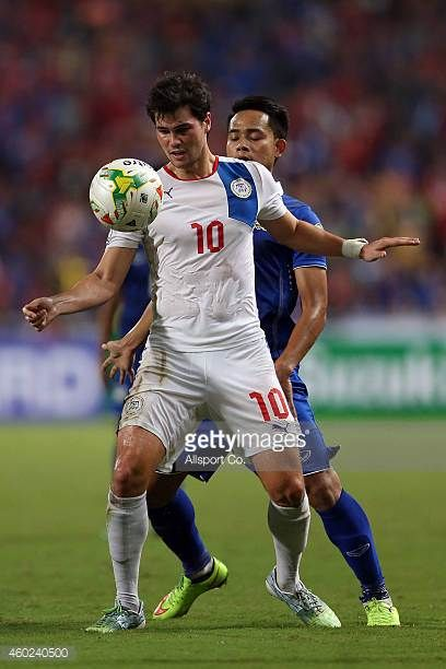 James Younghusband of the Philippines in action during the 2014 AFF Suzuki Cup semi final 2nd leg match between Thailand and Philippines at the...