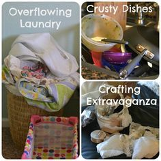 How To Tackle A Messy House. Is it bad that I have no kids and my house is way messier than hers? Except the dirty diaper on the kitchen table. Whoa. She wins.