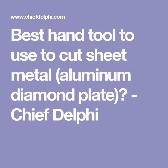 how to cut aluminum sheet metal