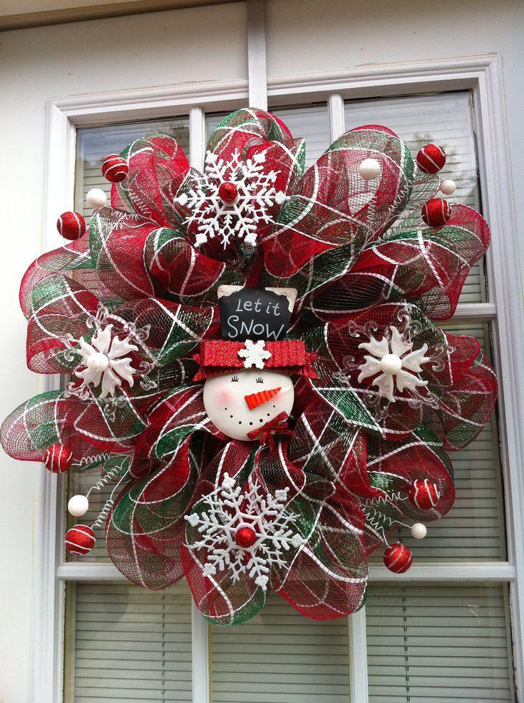 Let It Snow Christmas Mesh Wreath. $35.00, via Etsy.