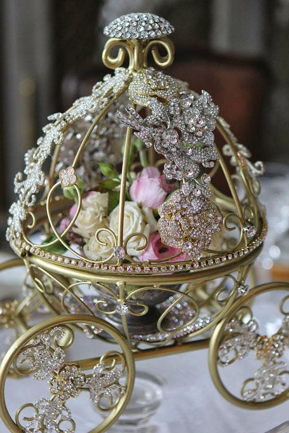 Cinderella Pumpkin Carriage Disney Wedding Centerpiece Silver or  Cream Fairytale Wedding Table Centerpiece on Etsy, £100.95