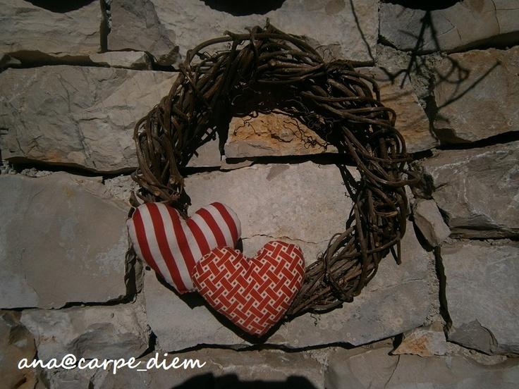 Twine Wreath with Hearts