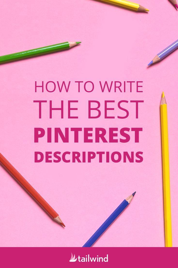 Wie man die besten Pinterest-Beschreibungen schreibt