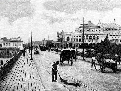 Viaduto do Chá e o Theatro Municipal Ano: década de 1900