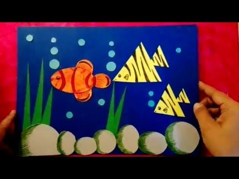 shapes using geometric drawing scenery geometrical step underwater drawings easy tutorial draw shape simple crafts painting