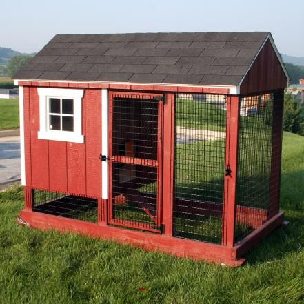 """Raising chickens is becoming increasingly popular in the U.S. and the reasons are obvious; chickens keep insect pests at bay, produce homegrown organic eggs and convert vegetable scraps into excellent fertilizer. And there are beautiful handcrafted chicken coops for every situation such as this """"Pull It"""" coop from Horizon Structures which allows you to easily relocate your chicken house whenever the need arises."""