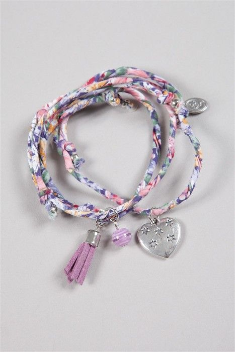Bracelet esprit liberty à breloques - Cache Cache
