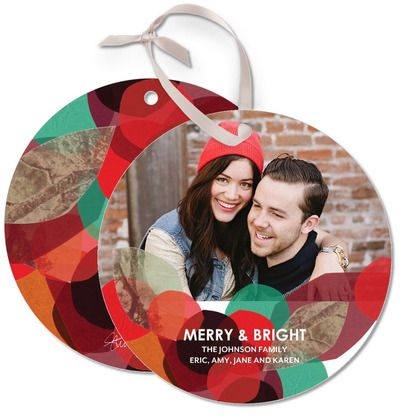 Leave a lasting 'Holiday Impression' with these Ornament Cards by Stina Persson for Tiny Prints in Bright RedPremium Holiday, Double Facs Satin, Photos Idears, Holiday Cards, Include Double Facs, Holiday Impressions, Ornaments Cards, Bright Red, Ornaments Ideas