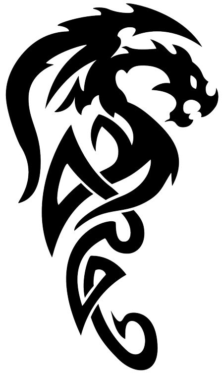 celtic dragon clip art black and white | dragon tattoo tribal tribal dragon tattoo by photos8 desktop ...