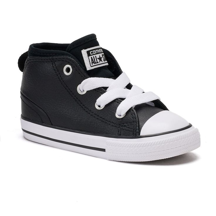 Toddler Boys' Converse Chuck Taylor All Star Syde Street Mid Sneakers, Size: 10 T, Black