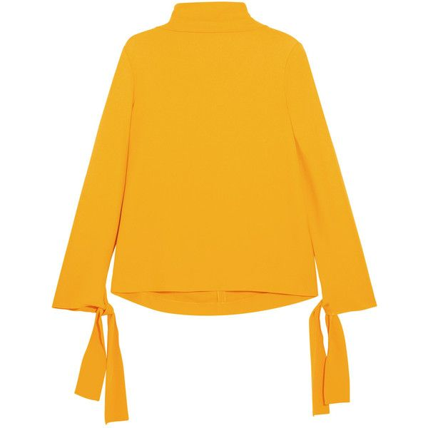 Joseph Todd cady turtleneck top ($445) ❤ liked on Polyvore featuring tops, cady, joseph, turtleneck, yellow, saffron, yellow turtleneck, yellow top, polo neck top and sparkly tops