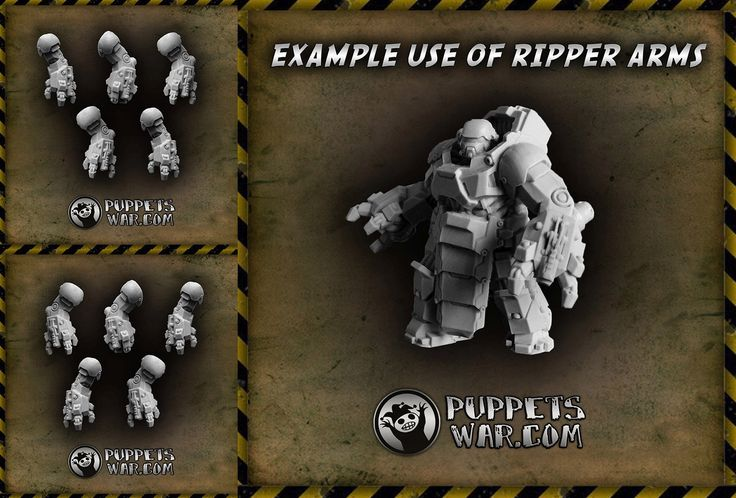 Today we have for you ripper arms: left https://puppetswar.eu/product.php?id_product=719 right https://puppetswar.eu/product.php?id_product=719 Many of you've  been asking for this, tell us what other parts you would like us to release as separate products?