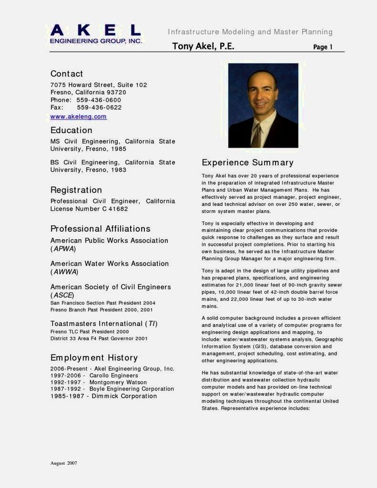 21 best CV images on Pinterest Sample resume, Resume and Resume - resume format for civil engineer